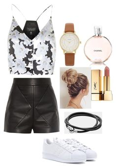 """Untitled #11"" by rhiannonpsayer ❤ liked on Polyvore featuring Balenciaga, Topshop, Kate Spade, adidas, Yves Saint Laurent and Pandora"