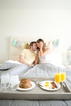 A Surprise Breakfast-In-Bed Proposal Inspiration Shoot | Fab You Bliss