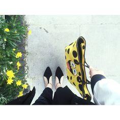 """""""Definitely feels like Spring today #ootd #mellerobotshoes"""""""