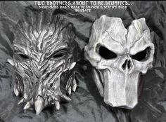 Darksiders Deaths Mask + War Mask of Shadows by *Uratz-Studios on deviantART