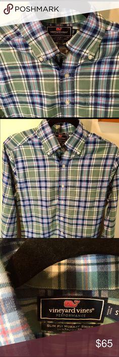"Vineyard Vines Casual Performance Sports Shirt Slim Fit ""Murray Shirt."" Part of Vineyard Vines Performance Line. In Great Condition! Vineyard Vines Shirts Casual Button Down Shirts"
