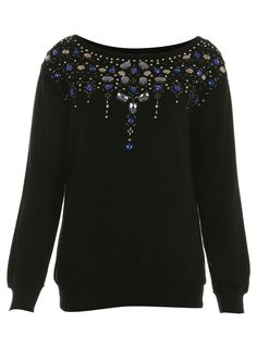 jewel embellished sweat