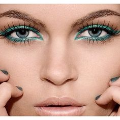 teal, liner and water line