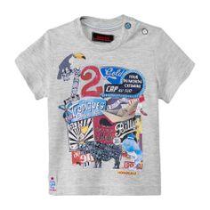 Tee-shirt maxi visuel Gris chiné Catimini