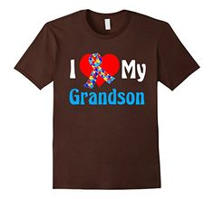 I Love My Grandson Autism Awareness Puzzle Piece Ribbon T-Shirt for a grandma or grandpa of a grandchild on the spectrum.  Buy via Amazon Prime: https://www.amazon.com/dp/B01CO78YP4/ref=cm_sw_r_pi_dp_x_ewpayb6CHR04J #autism