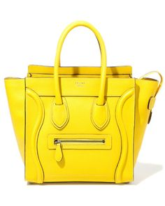 Bold yellow Celine. Obsessed.