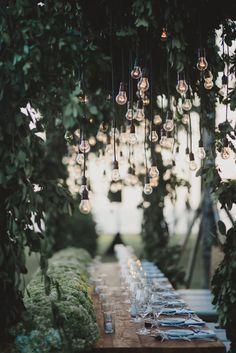 Love those lights! | Stunning Bali Wedding | Terralogical | Bridal Musings Wedding Blog
