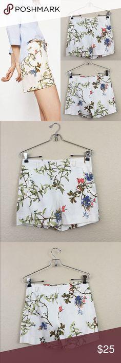 Zara floral shorts Zara floral shorts belt not included size small Zara Shorts
