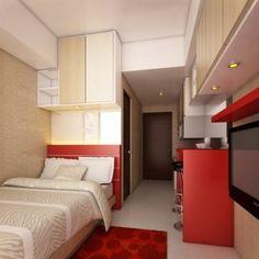 Apartemen Studio Modern Minimalis Yang berkesan Hangat