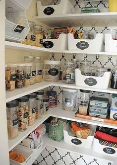20 Of the Best Ideas for Pantry organization Ikea . Pantry organization Inspiration organizing Made Fun Pantry Storage, Kitchen Organization, Organization Hacks, Kitchen Storage, Pantry Closet, Organizing Ideas, Pantry Room, Bedroom Organization, Storage Jars