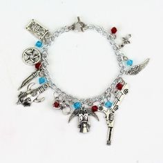 This is a Supernatural themed bracelet made with silver plated nickel-free chain…