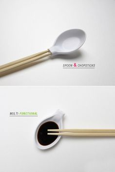 such a clever design! spoon + chopstick. My half Asian boyfriend would laugh! haha.