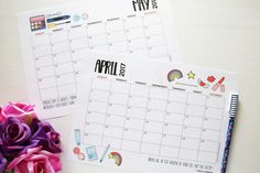 2017 Weekly and Monthly Planner Printables Free Download