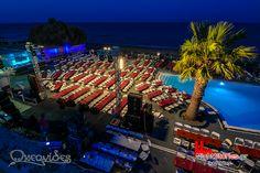 in before live concert starts Santorini Wedding Venue, Unique Wedding Venues, Greece, Have Fun, Sunrise, Live, Concert, Building, Beach