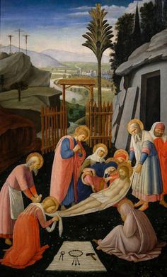 Fra Angelico, The Entombment of Christ, c 1450 Italian Painters, Italian Artist, Renaissance Artworks, Gardner Museum, Fra Angelico, Italian Renaissance, Native Indian, Art History, Medieval