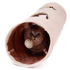 #offerte #dogalize Giochi per Gatti,Giochi Tunnel Gatto, Giocattolo del Piccoli Animali 120x25cm #cats #petshop