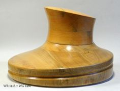 WK 1413 - Wooden Hat Block WR 1413 + WG 1450 by borsolino on Etsy