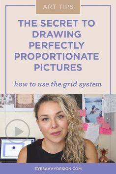 The secret to drawing perfectly proportionate pictures. This step by step process will teach you how to use the grid system so that it becomes incredibly easy to make your drawings and paintings look professionally drawn. #learnhowtodraw #drawing101 #arttips #drawingtips #graphicdesign #drawingtutorial #thegridsystem #paintingtips #easydrawingtutorial