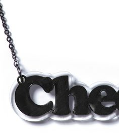 """""""Cheerio"""" Record Necklace custom made for Amy from Karmin!"""