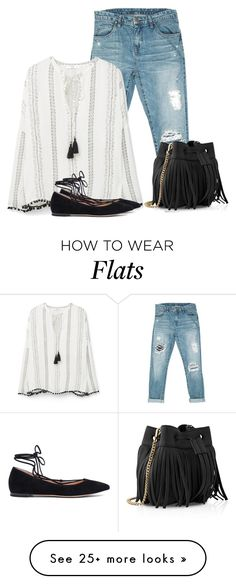"""""""Casual day."""" by cardigurl on Polyvore featuring Sans Souci, MANGO, Gianvito Rossi, Whistles and Judith Leiber"""