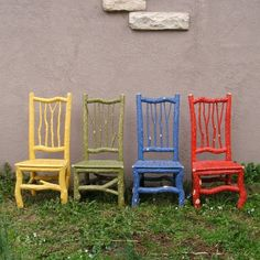 painted willow chairs….