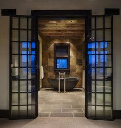 Love this tile for my bathroom! Yellowstone Residence Bathroom - contemporary - bathroom - denver - Laura Kirar Design