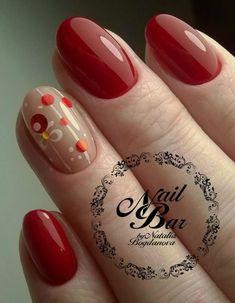 New year's manicure 2019 gel-varnish: new items, 150 photos. Orange Nail Designs, Holiday Nail Designs, Holiday Nails, Christmas Nails, Minimalist Nails, Love Nails, Red Nails, Shellac Pedicure, Pedicure Tools