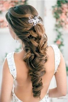 elegant half up half down braid wedding haristyles