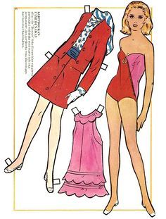 Faye Dunaway paper doll* 1500 free paper dolls at Arielle Gabriel's International Paper Doll Society for Pinterest paper doll pals *