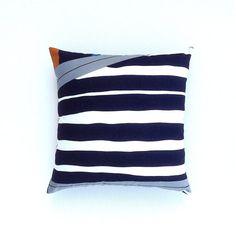 Marimekko Cushion Cover. Black and White Geometric by OnHighat5