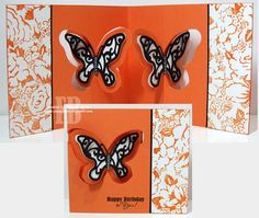 Frances Byrne using the Pop it Ups Butterfly Pivot Card die by Karen Burniston for Elizabeth Craft Designs. - Butterfly