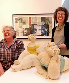 Di Conway I work in stoneware clays and caste Bronze ,all unique ,mostly substantia...