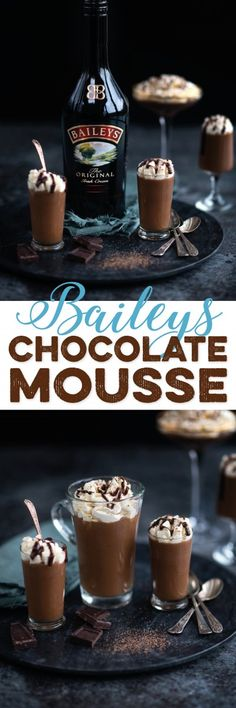 This velvety Baileys Irish cream chocolate mousse is the ultimate indulgence! Easy and quick to prepare and impressive enough to serve as dinner party dessert. #chocolatemousse #Baileys #Irishcream #StPatricksDay
