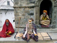 #sadhu #baba at #pashupatinath  #temple. http://www.villagevolunteering.org/