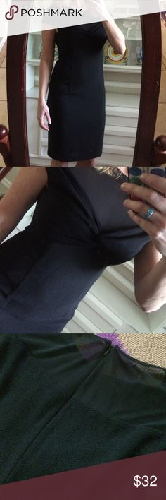 """Gorgeous LBD Classy style!  Zips up the back with mesh along the collar and back!  EUC!  Measures 40"""" long and 19"""" armpit to armpit David Meister Dresses"""