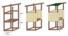 Spielturm Bauzeichnung