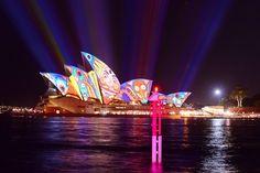 Sydney Opera House at Vivid Sydney 2013  #journey