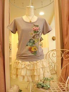 Emily Temple Cute cutsew + ruffled skirt
