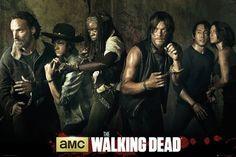 Walking Dead, The - Season 5 - Filmposter Kino Movie Gruselserie - Größe 91,5x61 cm + 2 St. Posterleisten Kunststoff 93 cm transparent
