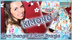 DIY - Faz Aí | Kimono 1 - Modelo com Franja e Sem Manga