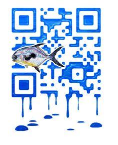 Fish Custom QR Code