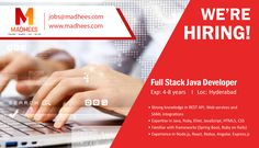 We are hiring the talent for Full Stack #JavaDeveloper (exp: 4-8 yrs) role . Candidates with knowledge in frameworks and relevant skills can apply for the #job with resume on jobs@madhees.com