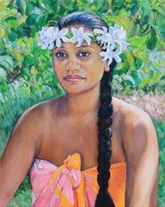 vahine nehe nehe 2013 by Melanie Shook Dupre ~ x Polynesian Girls, Polynesian Culture, Hawaiian People, Bali, Atelier D Art, Hawaiian Art, Hula Dancers, Vintage Hawaii, Inspiration Art
