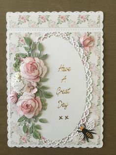 Best 12 Card made using the Tattered Lace floral fragrance collection. Birthday Cards For Women, Handmade Birthday Cards, Greeting Cards Handmade, Heartfelt Creations Cards, Tattered Lace Cards, Shaped Cards, Beautiful Handmade Cards, Pretty Cards, Flower Cards