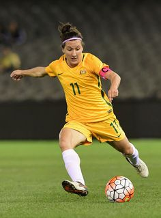 (Photo by Getty Images) Female Football Player, Football Soccer, Football Players, Womens Rugby, Woman In Gold, Australian Football, Latest Football News, Soccer Stuff, Olympic Team