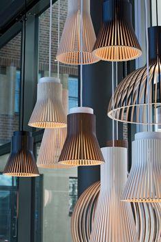 Installation of Secto pendants during Helsinki Design Week 2017 at Clarion Hotel Helsinki. Photo by Uzi Varon.