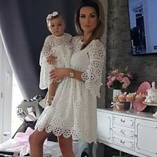 Mother and Daughter Party Lace Floral Dress Mommy/&Me Matching Outfit Clothes