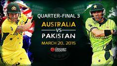 Watch Pakistan vs Australia Live Streaming   PAK vs AUS Live Streaming 3rd Quarter-Final 20th March 2015. Pakistan vs Australia Star Sports Live Streaming
