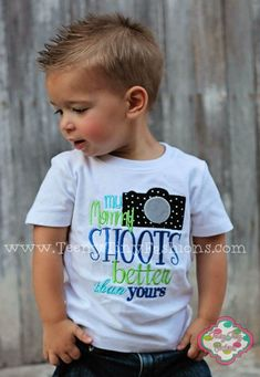 FREE SHIPPING My Mommy SHOOTS better than by TeenyTinyFashions, $25.00