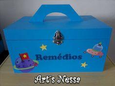 Art's Nêssa - Artesanato: Maleta remédios - Kit bebê Espacial